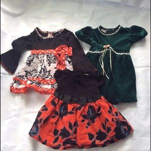 Piccolo Baby Girl Party Dresses Lot of 3 Bundle 2T